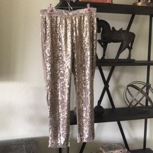 Chico's ultimate fit sequined and velvet pants 1.5